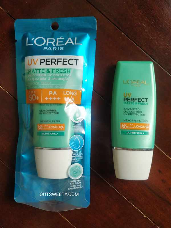 Review L'Oreal UV Perfect Matte & Fresh SPF 50 + PA ++++ Long UVA, Benarkah Finishing Matte ?