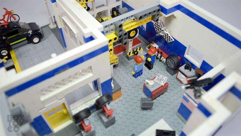 Custom8toys Custom Lego Mocauto Garage Amp Service Station