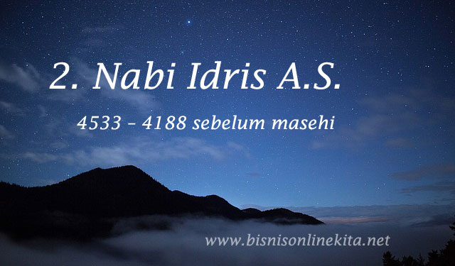 nabi idris as nama nama nabi