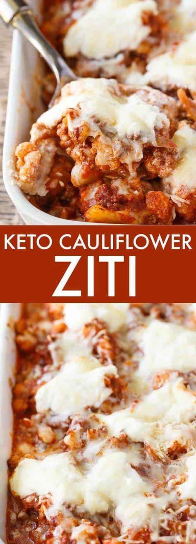 Awesome Keto Cauliflower Ziti