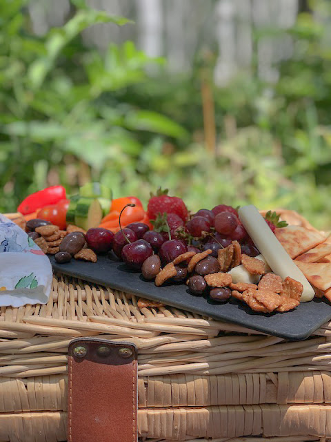 Picnic goodies on a tray