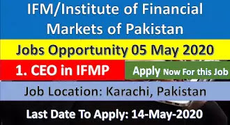 Institute of Financial Markets of Pakistan Jobs Opportunity 2020