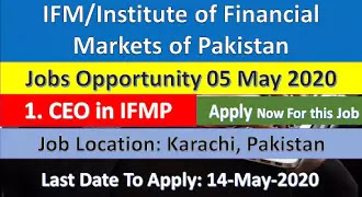 IFMP/Institute of Financial Markets of Pakistan Jobs Opportunity 2020