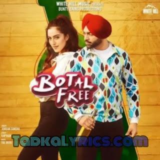 Botal Free Jordan Sandhu punjabi lyrics song
