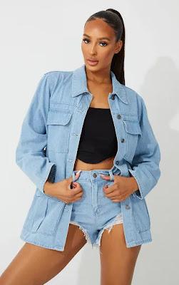 US Light Blue Wash Denim Jacket
