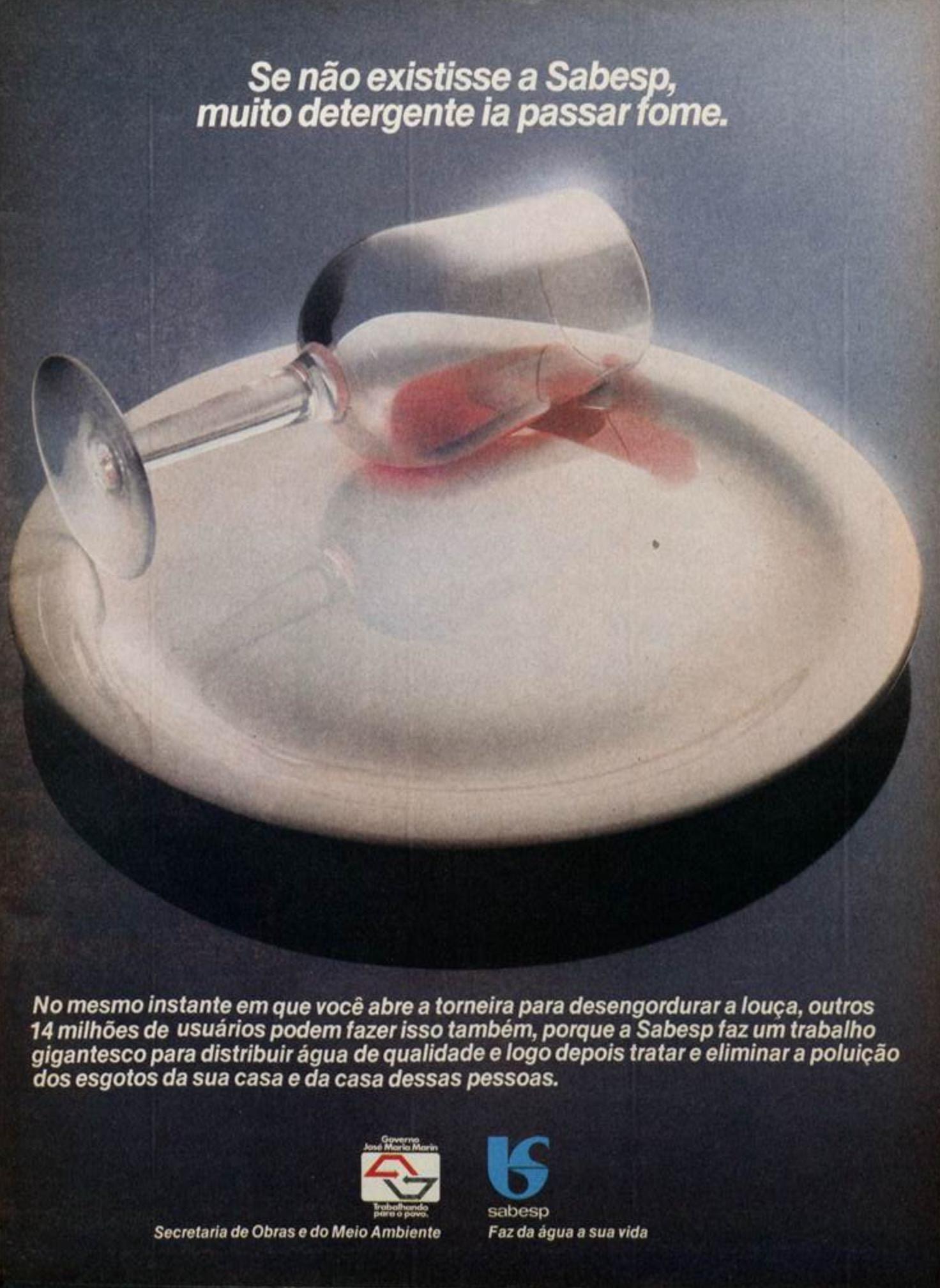 Campanha institucional da Sabesp veiculada em 1982