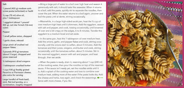 Review of Eggplant and Tomato Pasta from The Dinner Plan