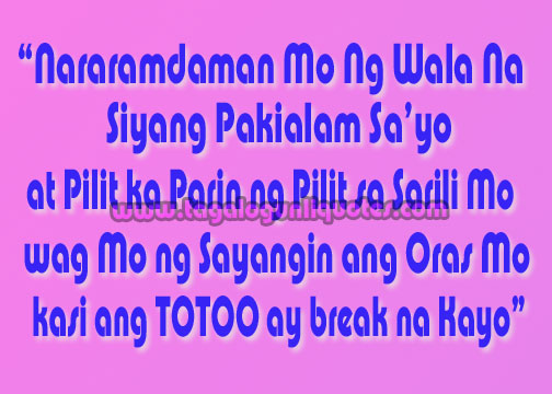 Lovely Love Quotes Tagalog Sad Break Up Photos - Valentine Ideas ...