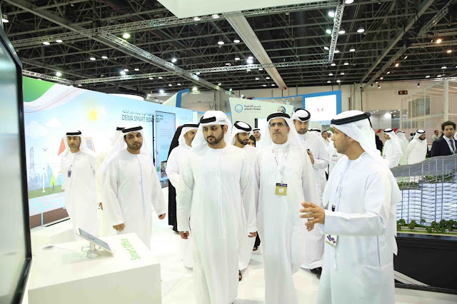 HH Sheikh Maktoum bin Mohammed bin Rashid Al Maktoum inaugurates DEWA's updated website at GITEX 2016