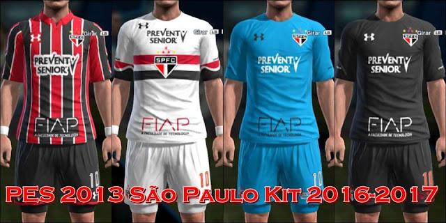 PES 2013 São Paulo Kit Season 2016-2017