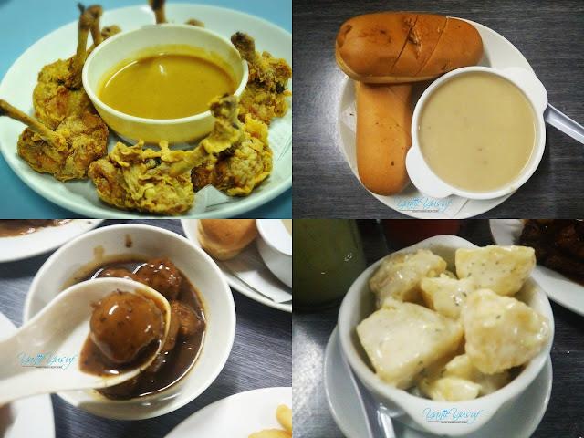 Chicken Boxing (7pcs),Mushroom Soup, Meatballs (10pcs),Potato Salad