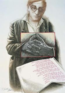 Πίνακας ζωγραφικής Παναγιώτη Γράββαλου (1933-2014),  για το ποίημα του Κ.Π. Καβάφη «Ένας Γέρος» (1897)