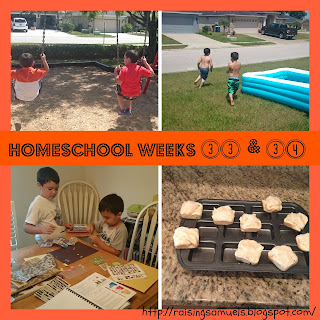 Homeschool Weeks 33 and 34