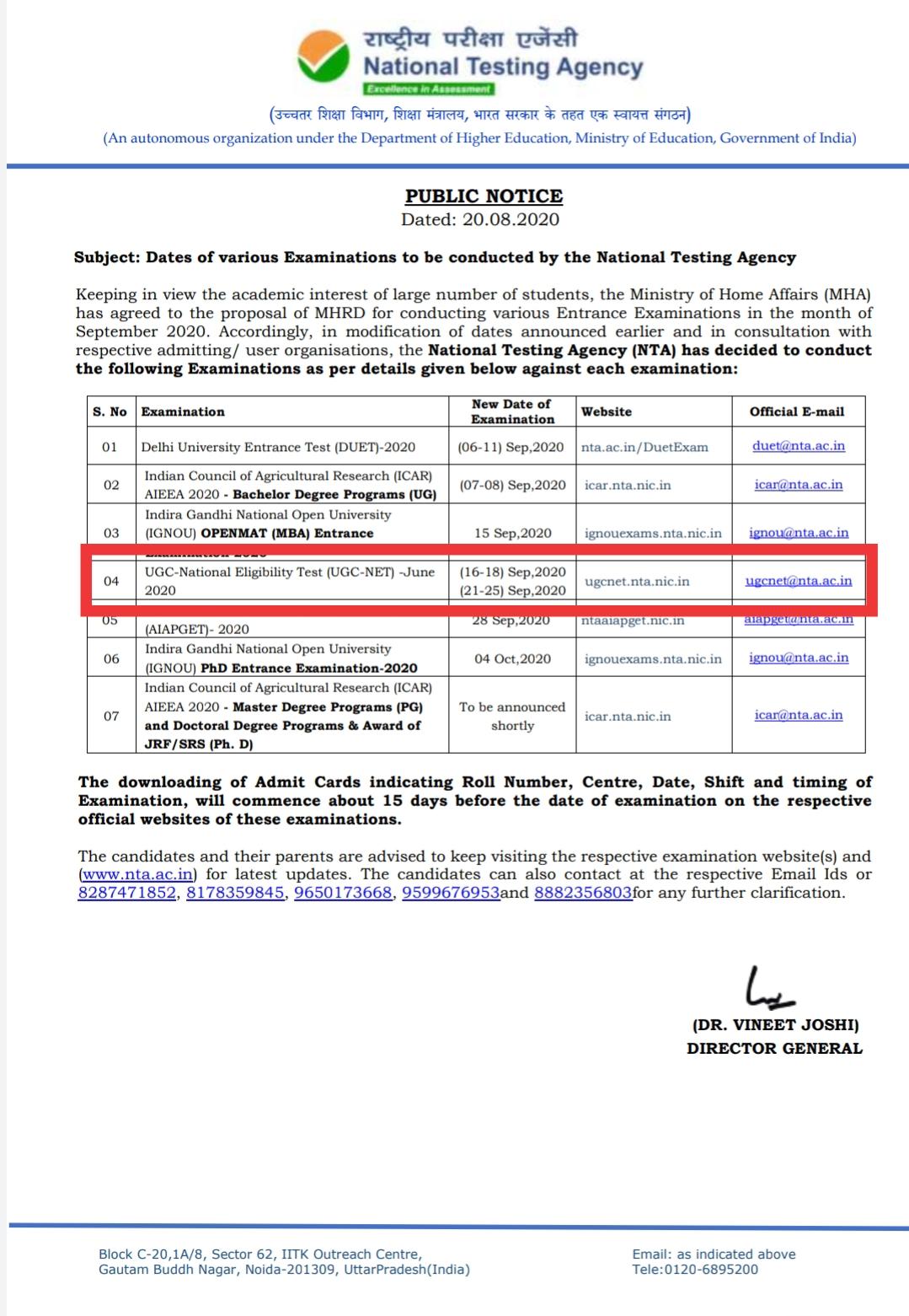 Nta-net-exam-date-2020
