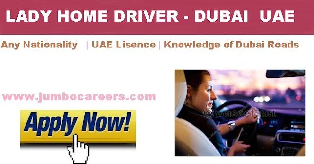 Lady driver jobs in Dubai.