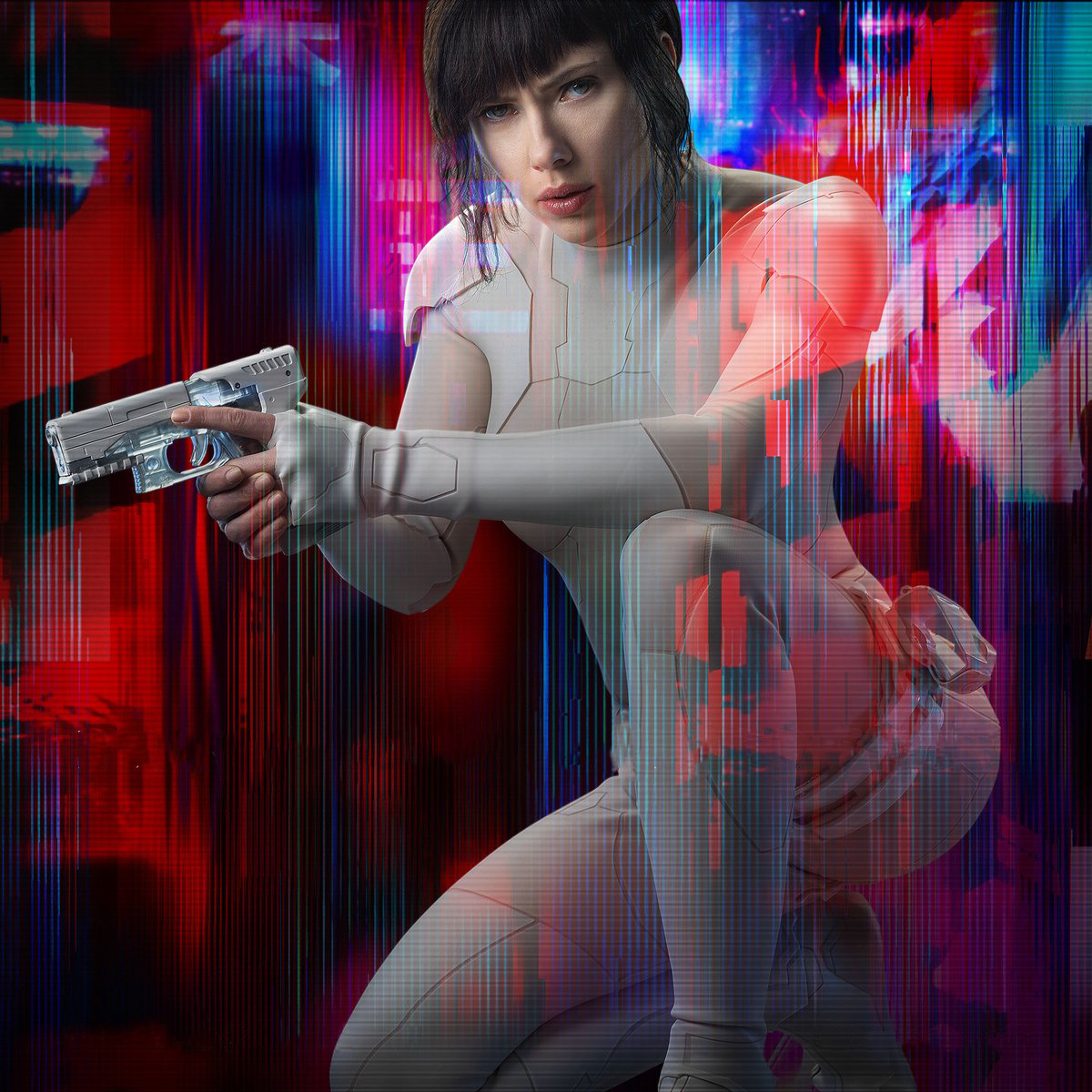 Scarlett Johansson in Ghost in the Shell as The Major / Motoko Kusanagi