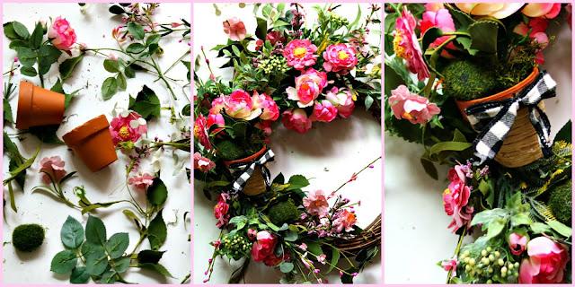 feminine, wreath, bridal, wedding, shower, may, day, handmade, diy, athomewithjemma