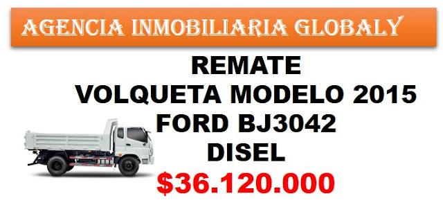 VENTA REMATE VOLQUETA FORD BJ 3042 MODELO 2015