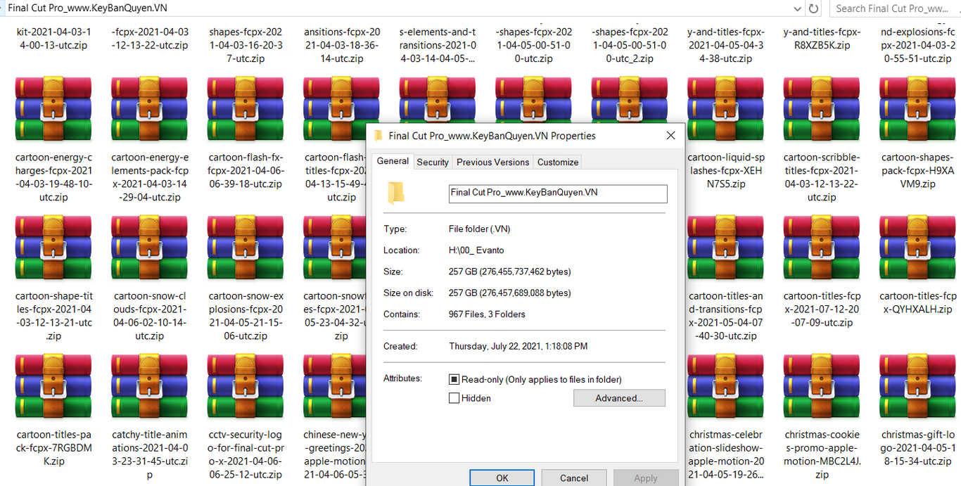 Bán thư viện bản quyền Effects, Transitions, Themes , Text Presets cho Final Cut Pro.