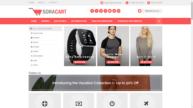 Best Ecomerce Blogger Template in 2019