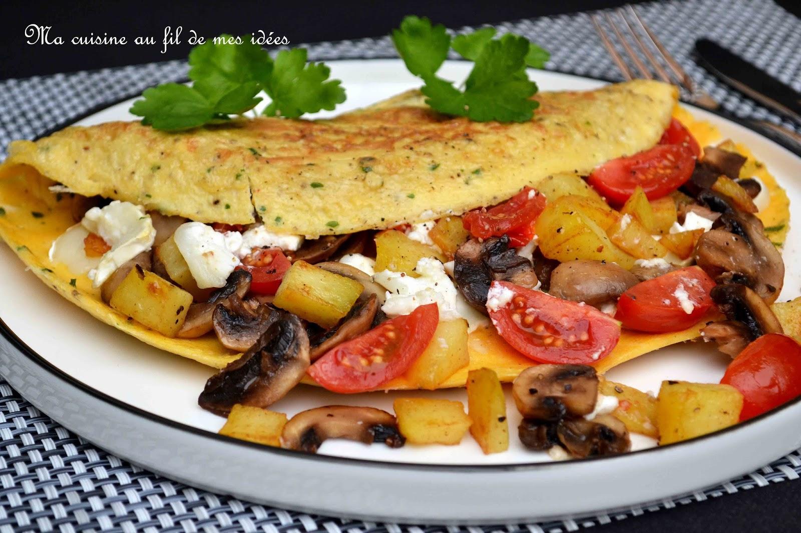 ma cuisine au fil de mes id es omelette aux champignons pommes de terre et fromage de. Black Bedroom Furniture Sets. Home Design Ideas