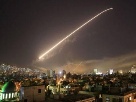 Giliran Suriah Tembak Jatuh Rudal Israel yang Targetkan Damaskus