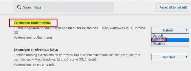 كيفية تمكين قائمة الإضافات الجديدة في متصفح جوجل كروم
