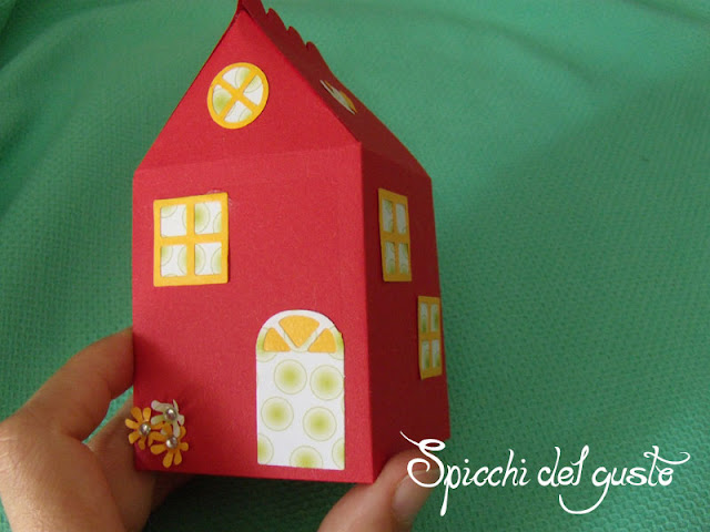 scatolina a forma di casa con bigshot sizzix
