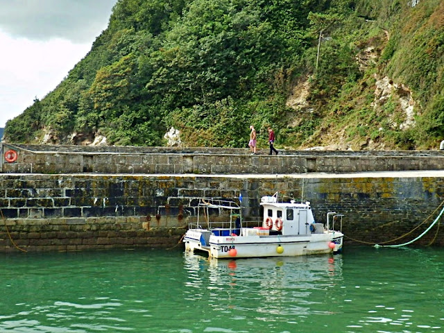 Walking the harbour wall at Charlestown, Cornwall