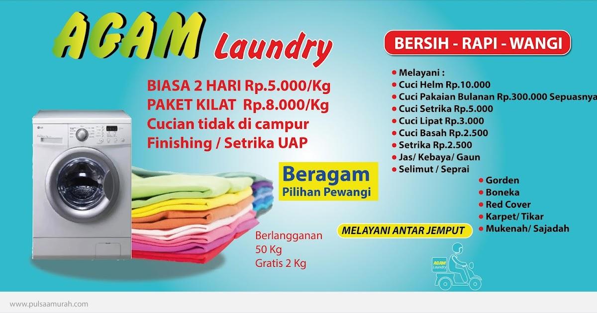 Contoh Desain Spanduk Laundry Pulsa Murah Agam