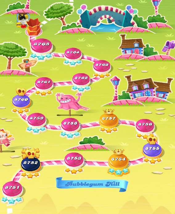 Candy Crush Saga level 8751-8765