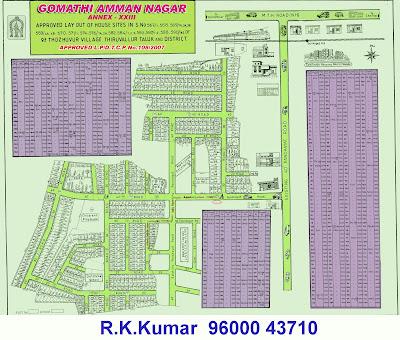 Sevvapet Plots - Gomathi Amman Nagar - Thiruthanigai Estates