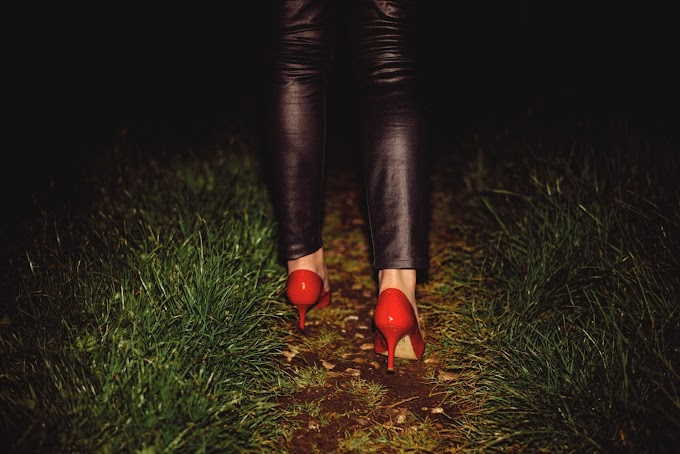 The Woman in Red Shoes