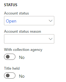 Account status fields
