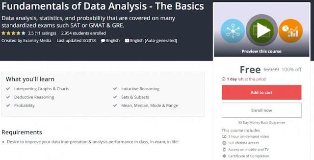 [100% Off] Fundamentals of Data Analysis - The Basics| Worth 69,99$