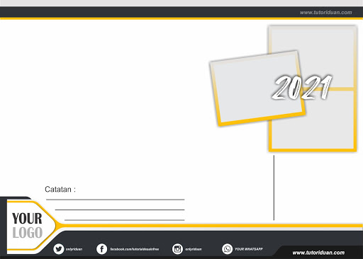 Desain Kalender Duduk 2021 Free CDR