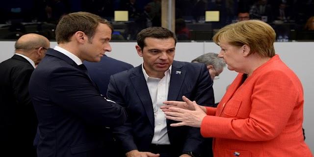 Συνομιλία Τσίπρα, Μέρκελ, Μακρόν για χρέος και συνολική λύση στο Eurogroup του Ιουνίου