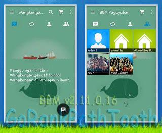 BBM MOD GO Rank Path Tooth v2.11.0.16 terbaru