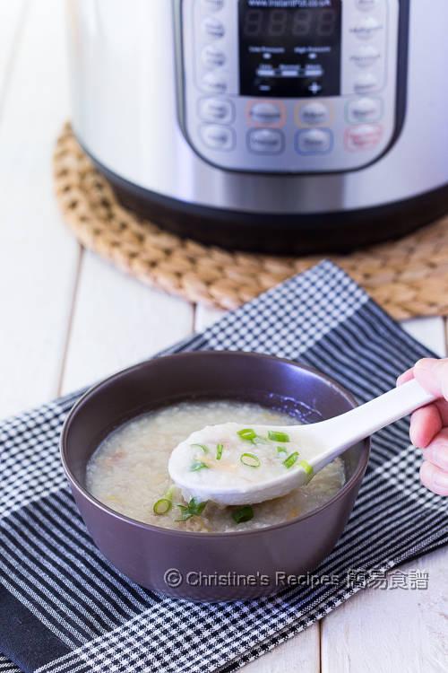 淮山瘦肉粥 【Instant Pot 壓力煲食譜】Chinese Yam and Pork Shin Congee