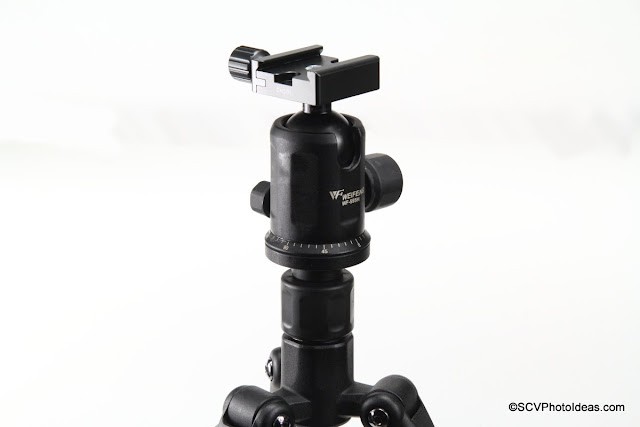 Weifeng WF-595H mounted on WF-595T Tripod