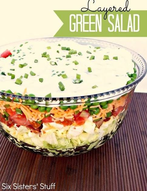Layered Green Salad