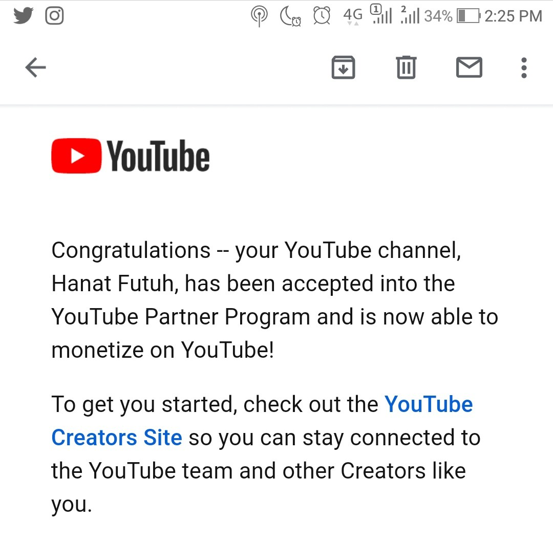 Congrats Monetisasi YouTube