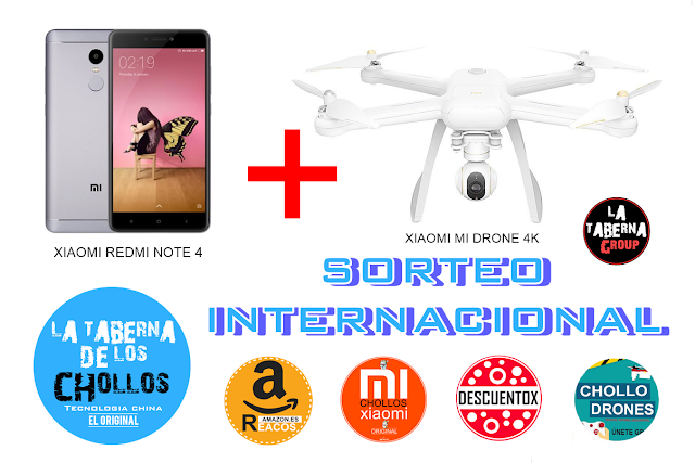 Xiaomi Redmi Note 4 GLOBAL + Xiaomi Mi Drone 4k International Giveaway