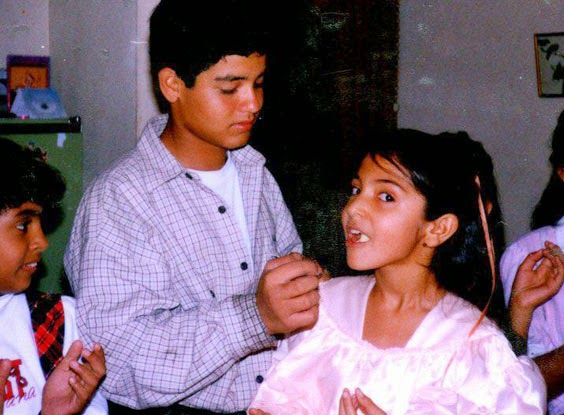 Brother  celebrates Birthday of Anushka Sharma  in Childhood pictures