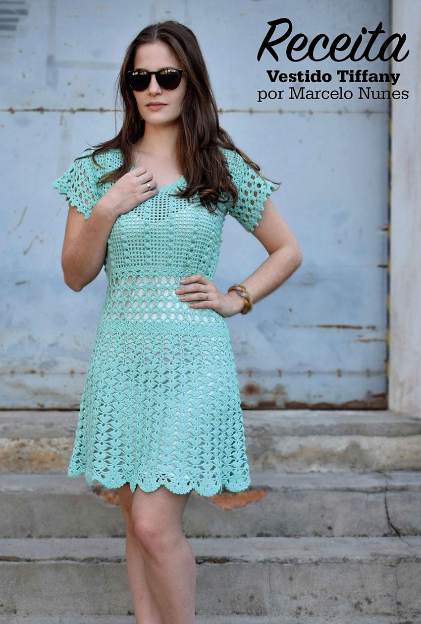 Вязаное крючком платье Linha Passione