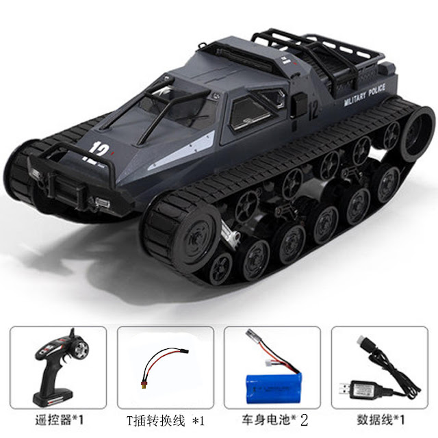 SG 1203 1/12 2.4G Drift RC Tank Car High Speed Full Proportional Control Vehicle Models With Double Battery