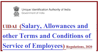 uidai-salary-allowances-service-of-employees-regulation-2020-notification