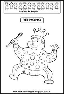 Desenho de Rei Momo