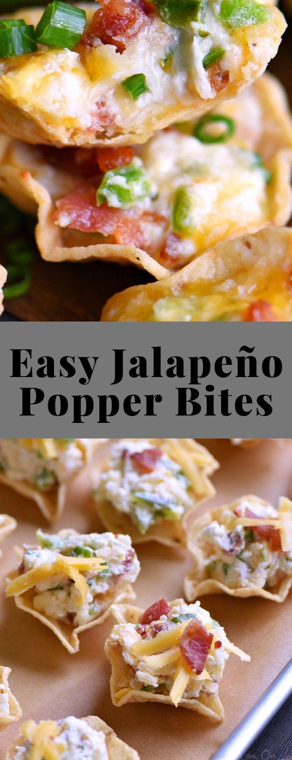 Easy Jalapeño Popper Bites #appetizer