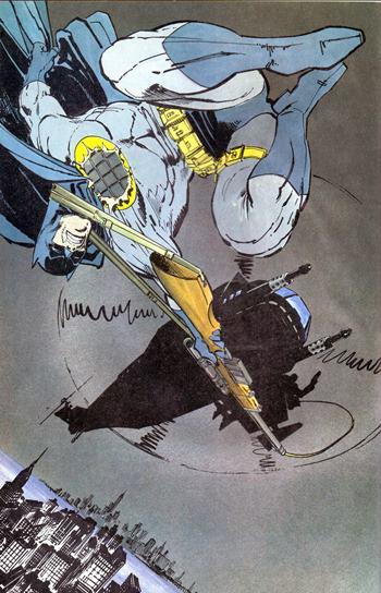 Espectacular dibujo de Batman en Dark Knight Returns